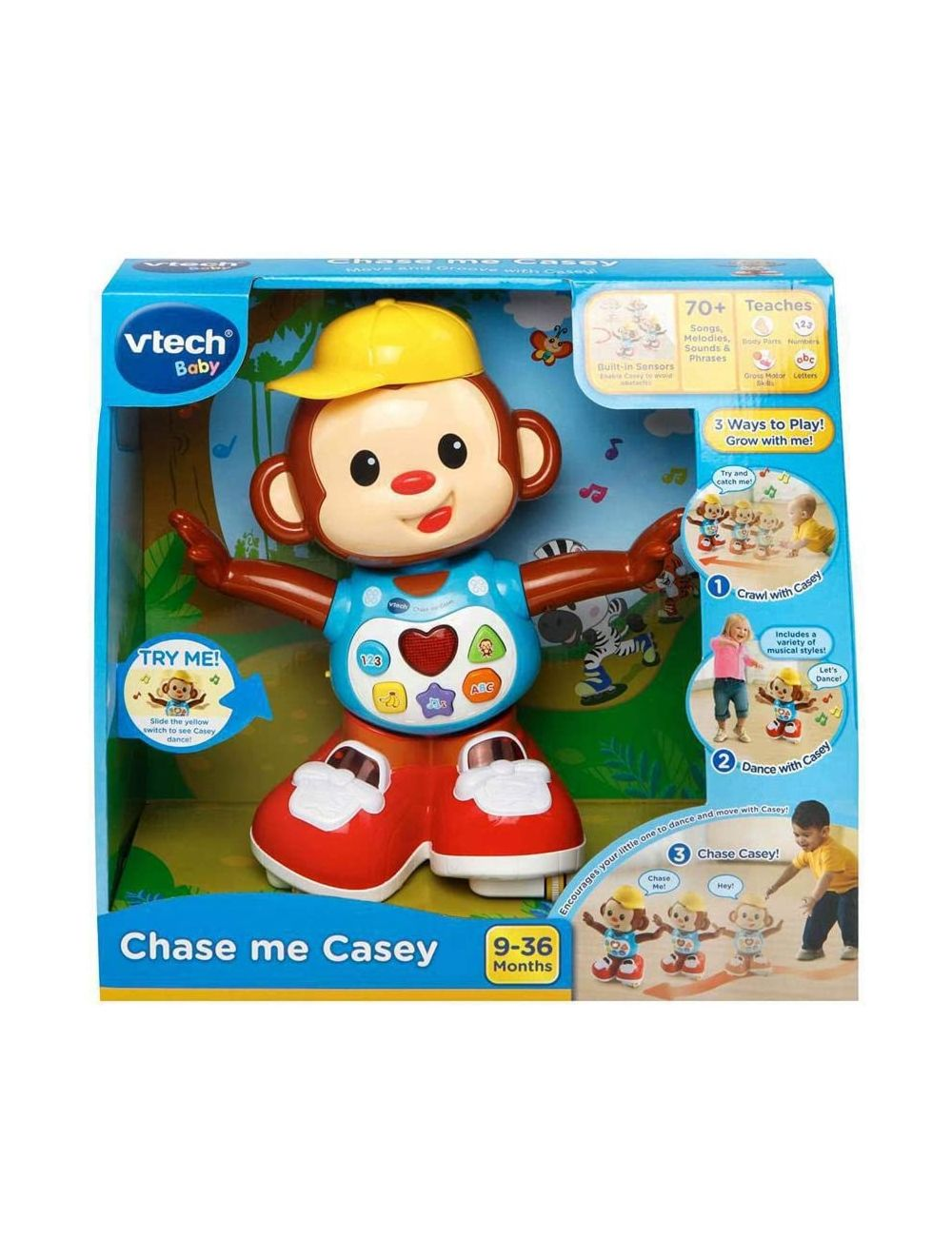 VTech Chase Me Casey Interactive Baby Toy | Musical Baby ...